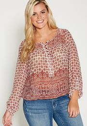 plus size patterned
