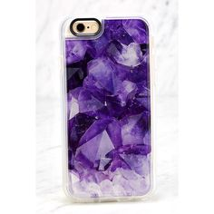 Casetify Amethyst Clear and Purple iPhone 6 and 6s Case ($40) ❤ liked on Polyvore featuring accessories, tech accessories, phone cases and purple