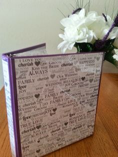 Bridal Memory Binder -  A memory book for the bride on her wedding day, designed by her ladies to reminisce about their past and share their support for the future.