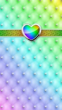 By Artist Unknown. Glamour Wallpaper, Bling Wallpaper, Love Wallpaper, Mobile Wallpaper, Beautiful Wallpaper, Heart Iphone Wallpaper, Rainbow Wallpaper, Cellphone Wallpaper, Colorful Wallpaper