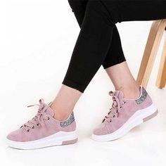 Women Hook and Loop Anti Slip Flat Low Cut Soft Mesh Fabric Sport Shoes Rapture