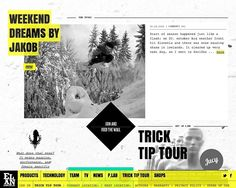 Elan Snowboards - CoolHomepages Web Design Gallery