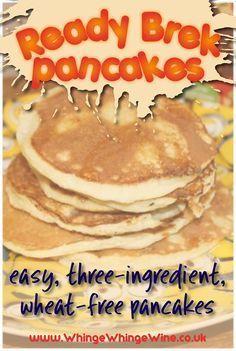 Ready Brek pancake recipe: Gluten/Syn-free Slimming World oat pancakes - REALLY easy pancakes made without flour! Wheat free, three-ingredient pancakes take five minutes to - Slimming World Oat Pancakes, Slimming World Puddings, Slimming World Treats, Slimming World Dinners, Slimming World Breakfast, Slimming World Recipes Syn Free, Slimming World Diet, Syn Free Pancakes, Pancakes Easy