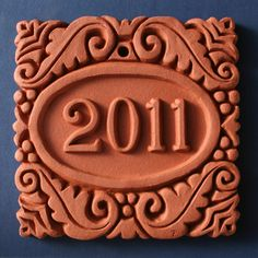 Idea for ceramic house number tile HOUSE NUMBER TILE like you do the children's first letter of their names