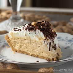 A real scratch low carb peanut butter pie made from whole ingredients. This easy low carb pie is a gluten-free, ketogenic dream come true!