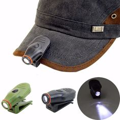 Clip-on LED Cap Hat Light Lamp Mini Torch Headlight Hunting Fishing Camping Outdoor