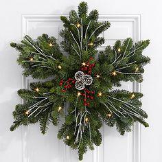 "24"" Evergreen Snowflake Wreath #christmascrafts"