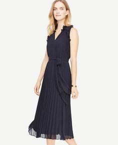 Pleated Flutter Dress