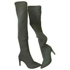 Cloth boots Free People Green size 38 EU in Cloth - 10856128 Free People Boots, 3 Inch Heels, Shoe Boots, Shoes, Luxury Consignment, Green, Clothes, Fashion, Self