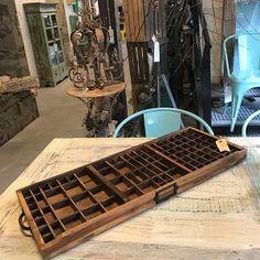 Antieke houten letterbak