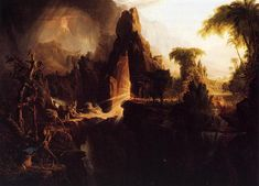 Expulsion from the Garden of Eden, 1828 by Thomas Cole. Romanticism. religious painting