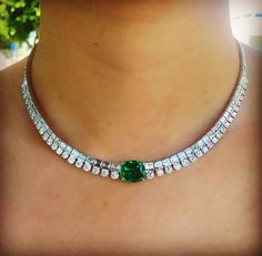 """1,247 Likes, 37 Comments - Anita Ko (@anitakojewelry) on Instagram: """"Things just got so real...obsessed with this new emerald and diamond necklace I designed for a…"""""""