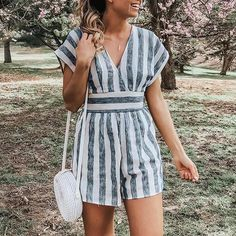 Yellow Jumpsuit, Jumpsuit Outfit, Casual Jumpsuit, Summer Jumpsuit, White Romper, Overall Shorts, Como Fazer Short, Looks Adidas, Summer Outfits