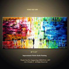 48''  HUGE Original Contemporary Palette Knife Fine Art by art53, $299.00
