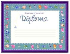 Diplomas para escolares