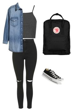 """""""idk man"""" by jenna-grace-peters on Polyvore featuring Topshop, H&M, Converse and Fjällräven"""