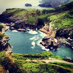 Tintagel Castle in Tintagel, Cornwall - birthplace of King Arthur