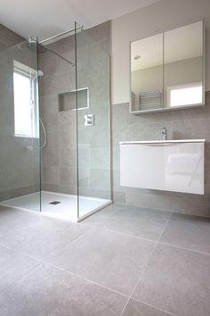 English Grey stone effect porcelain tiles, grey porcelain for floor and wall tiles. Order your FREE sample of English Grey porcelain stone tiles Light Grey Bathrooms, Grey Bathroom Tiles, Bathroom Renos, Bathroom Layout, Modern Bathroom Design, Bathroom Interior Design, Small Bathroom, Wall Tiles, Grey Tiles