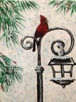 Christmas Cardinal - Wine and Design