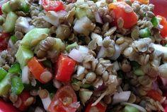 Pasta Salad, Potato Salad, Grains, Salads, Rice, Potatoes, Chicken, Meat, Healthy