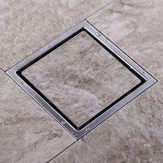 Square Invisible Floor Drain Shower Grate Water Waste Drain, Stainless Steel