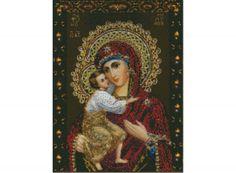 Стразы «Феодоровская икона Божией Матери» Иконы, иконы бисером, иконы стразами - Zvetnoe.ru - раскраски по номерам, алмазная вышивка, вышивка бисером, вышивка крестом