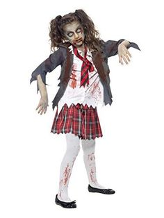 Includes tartan skirt, jacket, mock shirt and tie Pantyhose and shoes not included Perfect for Halloween! Tween Halloween Costumes, Halloween Party Themes, Halloween Fancy Dress, Girl Costumes, Scary Halloween, Adult Costumes, Girl Halloween, Costume Ideas, Women Halloween
