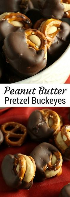 Peanut Butter Pretzel Buckeyes | Salty Sweet Christmas treats perfect for christmas candy, cookie exchanges and swaps and just to eat year round.