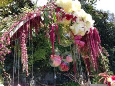 Great Gatsby Art Deco 1920's Themed Wedding Arch Concept  Vintage Arch  burgundy - pink - white florals  Crystals and bulbs  Flower Box Creative
