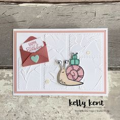 Stamp Review Crew | Snailed It – kelly kent All Jokes, Hello Monday, Crossed Fingers, Animal Cards, Happy Mail, My Stamp, One Design, First Day Of School, Embossing Folder