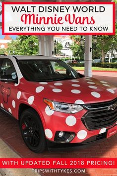 Minnie Vans at Walt Disney World - curious about this new form of Disney transit? All your Minnie Van questions answered, from car seats for your kids to the brand new variable pricing announced in fall