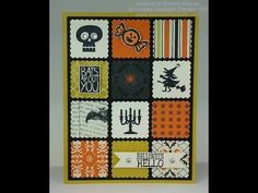 ▶ Halloween Card created with Stampin' Up! Postage Stamp punch! - YouTube