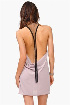 Luxe Bead Dress // love the back detail