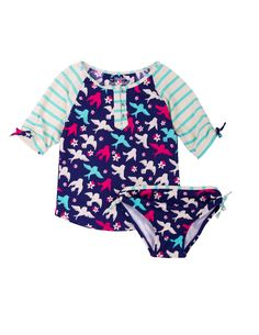 42e88f7ca345 New Hatley Girls  Rash Guard Set online. Enjoy the absolute best in Petit  Lem girls clothing from top store.