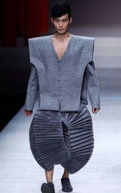 I imagine accordion chords playing as he walks....