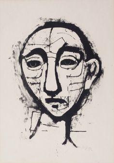 Head of a Man by Karl Hofer