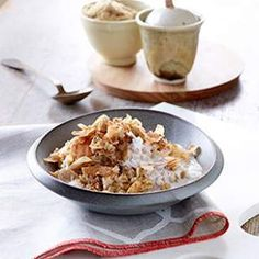 With the flavors of chai tea and coconut, this healthy oatmeal recipe is a spice upgrade from just plain cinnamon.