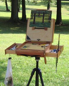 A great way to paint outdoors ['Alla Prima']   with ease.. Google Image Result for http://www.linesandcolors.com/images/2008-08/pochade_450.jpg