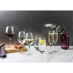 Spiegelau Authentis Champagne Flutes Set of 4 Craft Beer Glasses, White Wine Glasses, Burgundy Wine, Champagne Flutes, Gin And Tonic, Prosecco, Alcoholic Drinks, Kitchen, Cucina