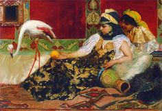 Jean-Joseph Benjamin-Constant, Le Flamant rose, 1876, Musée des beaux-arts de Montréal. Photo MBAM, Christine Guest