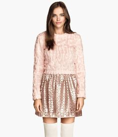 skirt H&M pink girly flowers