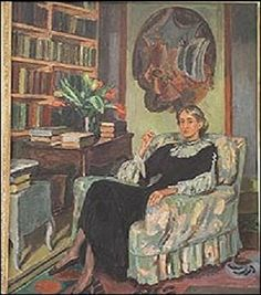 Portrait of Virginia Woolf painted by the writer's sister, the celebrated artist Vanessa Bell. Vanessa Bell, Virginia Woolf, Dora Carrington, Duncan Grant, Writers And Poets, Bloomsbury Group, Charleston Homes, Post Impressionism, Violin