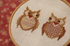 Cross stitch owl    I miss cross stitching. Might have to do this one.