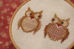 Interested Owls, designed by Penelope Waits.