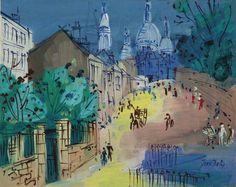 Jean Dufy (1888-1964) - Paris , Montmartre