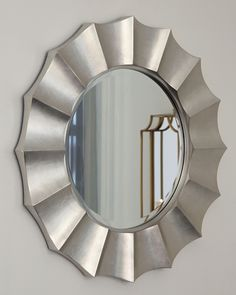 Elsley - Silver Finish - Accent Mirror by Signature Design by Ashley. Get your Elsley - Silver Finish - Accent Mirror at JB's Furniture, Milwaukee WI furniture store. Round Mirrors, Wall Mirrors, Mirror Set, At Home Store, Signature Design, Home Accents, Wall Accents, Accent Decor, Creations