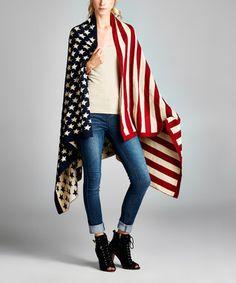 Patriotic American Flag Throw Wrap