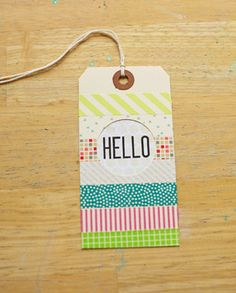 hello washi tag by jenkinkade at Studio Calico