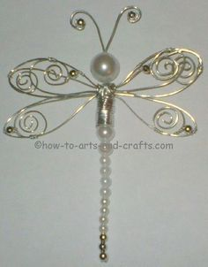 dragonfly crafts | Dragonfly Crafts: Make Stunning Pearl and Bead Dragonfly Art and Craft ... #wirejewelry