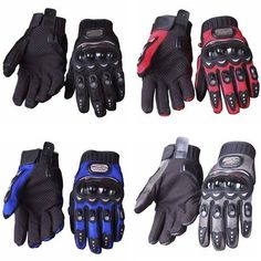 Full Finger Safety Bike Motorcycle Racing Gloves for Pro-biker MCS-01B - US$6.69